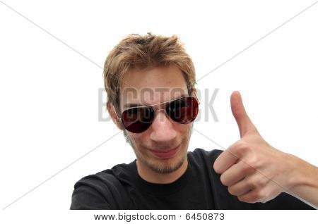 Reassuring Thumbs Up With A Smile