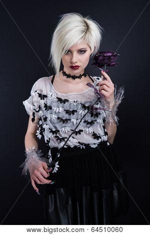 Emo fashion chick