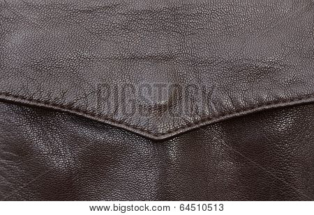 Leather Jacket Pocket Detail