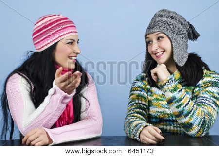 Two Friends Have A Conversation