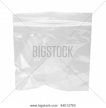 Resealable Plastic Bag Isolated