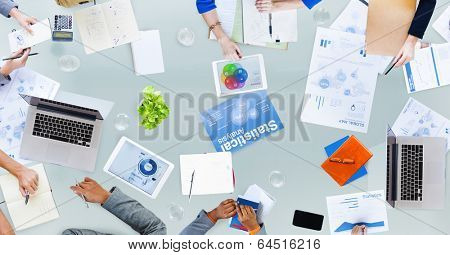 Group of Business People Dicussing Business Issues