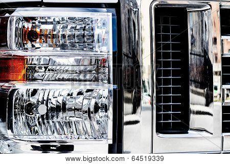 Truck headlamps macro