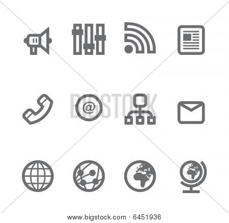 Simple icons isolated on white - Set 12