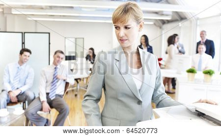 Business people getting bad mood