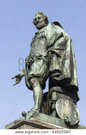 Statue Of Peter Paul Rubens In Antwerp.