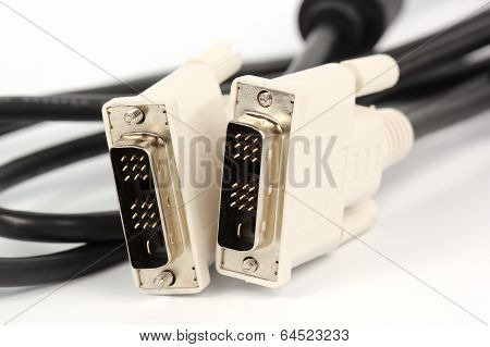 Close Up Vga Cable For Monitor