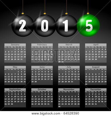 calendar 2015 monday firts
