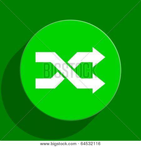 aleatory green flat icon