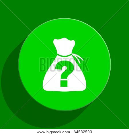 riddle green flat icon