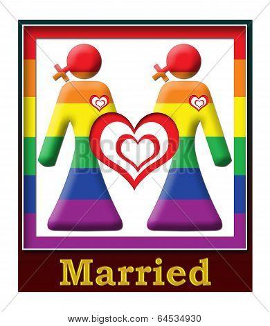 Lesbian Married Frame