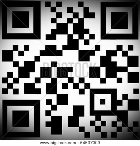 QR Code With Black Vignette