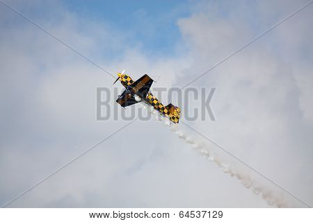 Riga, Latvia - August 20: Pilot From Uk Tom Cassells On Cap 232 Participating In Riga Fai Elite Aero