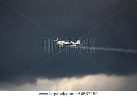 Riga, Latvia - August 20: Pilot From Russian Ivanoff On Sbach 342 Participating In Riga Fai Elite Ae