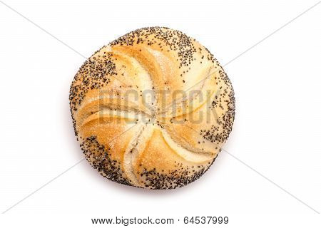 Kaiser Roll With Poppy Seeds