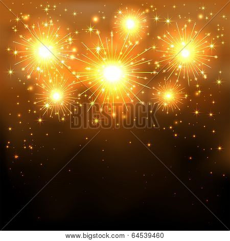 Golden firework