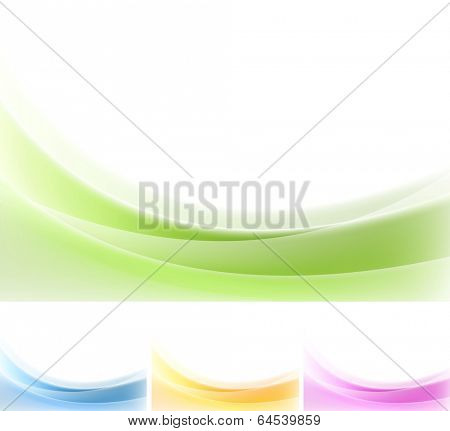 Abstract wavy backgrounds. Gradient vector mesh