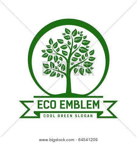 Vector Eco emblem