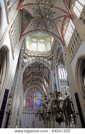 Interior of St. John's Cathedral at 's-Hertogenbosch - Netherlands