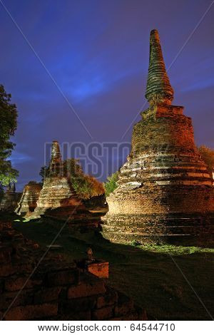 Wat Phra Si Sanphet temple at Ayutthaya, the second Thailand capital