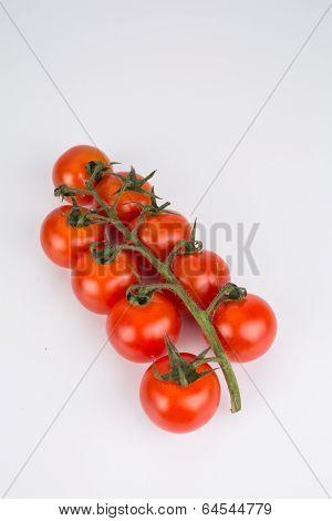 Bunch Of Ripe Cherry Tomatoes