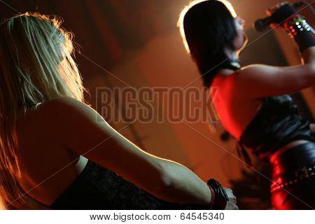 Musicians on a rock concert