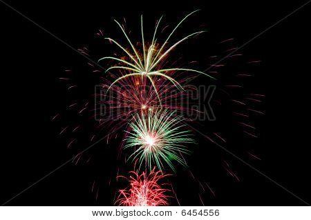 Fireworks On Black
