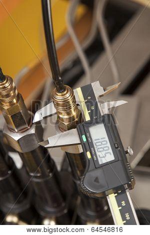 Close-up Of Digital Vernier Caliper
