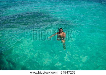 Snorkeling In Caribbean Waters