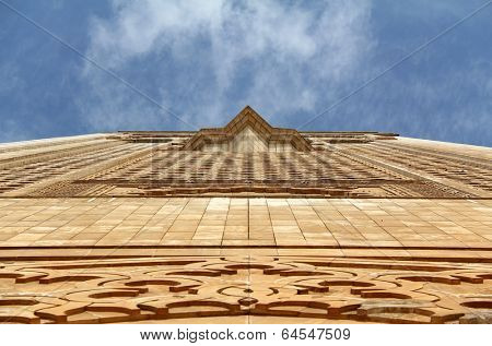 Hassan II Mosque in Casablanca, Morocco. The mosque was completed in 1993 and is the biggest in Morocco, 7th biggest in the world and has the biggest minaret in the world.