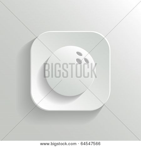 Bowling icon - vector white app button
