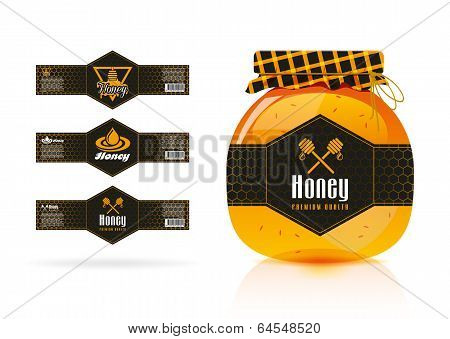 Honey banner - sticker design