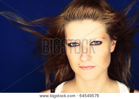 Portrait of an atractive young rocker girl