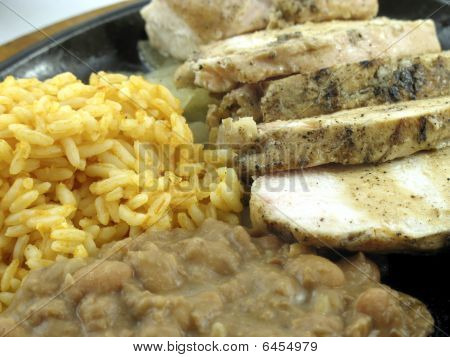 Chicken Fajita With Rice And Beans