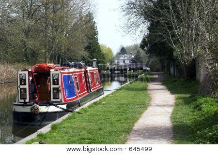 Narrowboat And Towpath