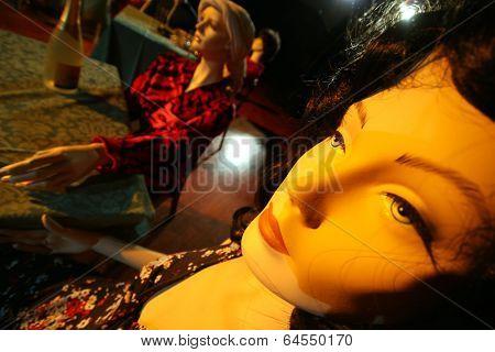 Plastic model face