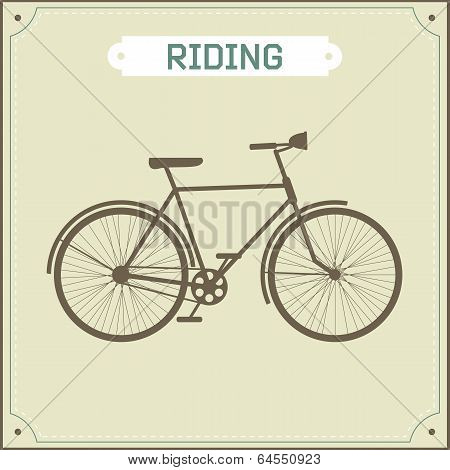Vintage bike retro illustration