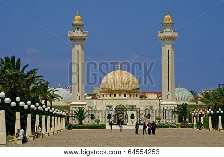 People Are Visiting Mausoleum Of Habib Bourgiba In Monastir, Tunisia