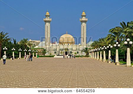 People Are Visiting Mausoleum Of Habib Bourgiba In Monastir, Tunis