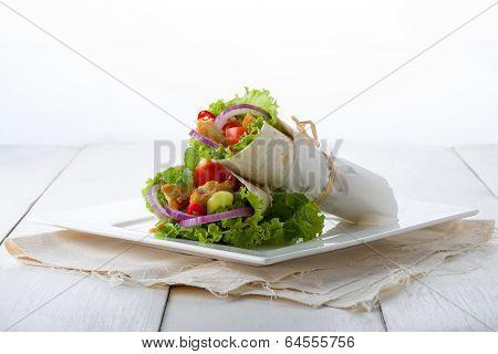 Two Chicken Tortillas Or Tacos