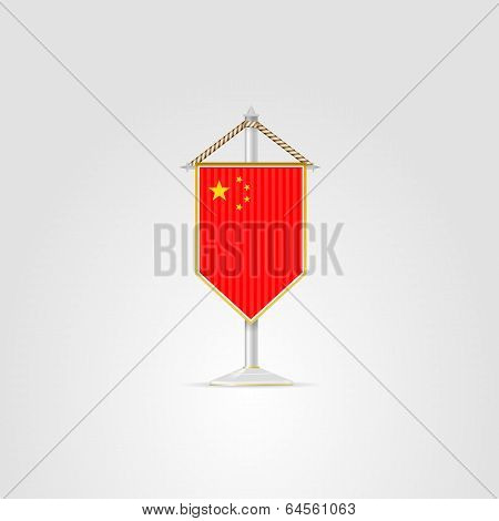Illustration of national symbols of Asian countries. China