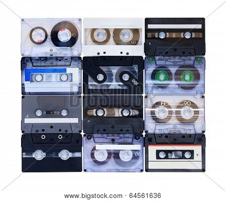 Collection Of Various Vintage Audio Tapes