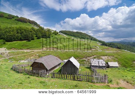 mountain hut in