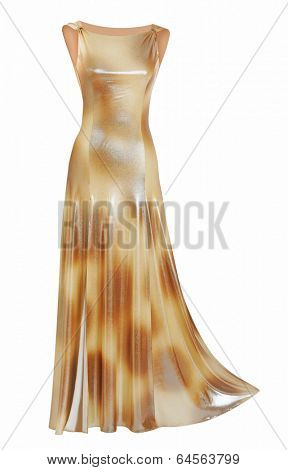 silk evening dress isolated on white