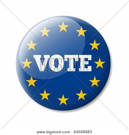 Badge Europe Vote