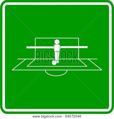foosball goalkeeper sign