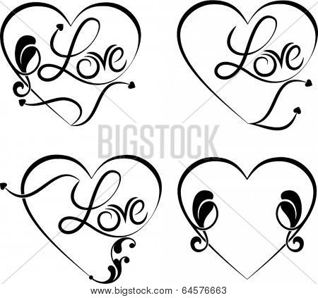 Love Calligraphic Tattoo Design