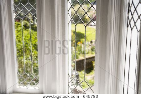 Stock Photo Of A Beautiful Lead Glass Window