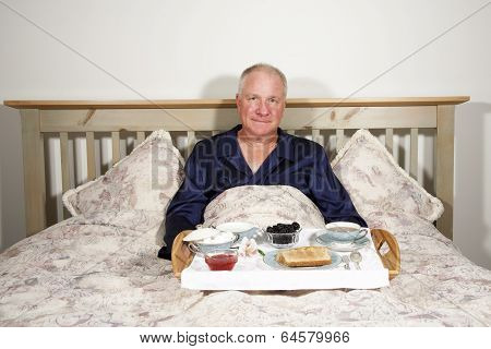 Man with Breakfast in Bed