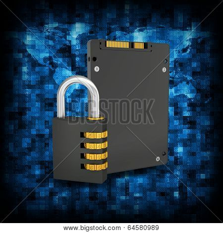 Binary code and SSD with combination lock